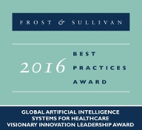 Frost & Sullivan Award For Pioneering Healthcare Centric Artificial Intelligence Systems